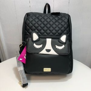 Betsey Johnson Black Lexie 2/1 Backpack NWT